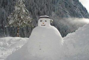 Unser Schneemann bewacht das Haus | Foto: Susanne Radke