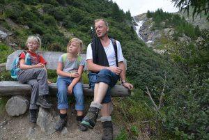 Wanderpause bei den Umbalfällen, Prägraten | Foto: Susanne Radke